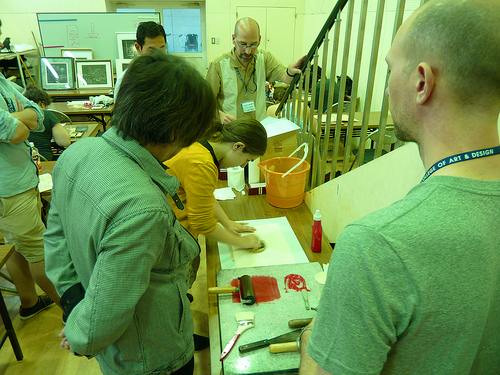 Traditional Woodblock course instructed by NCAD's Abe Sensei.